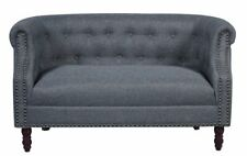 Chesterfield Loveseat charcoal Gray Upholstery