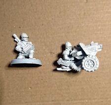 40k Praetorian Heavy Bolter weapon team Metal Citadel Metal OOP Imperial Guard