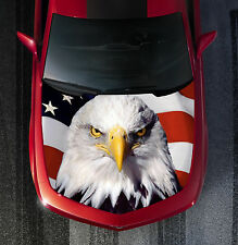 H44 EAGLE AMERICAN FLAG Hood Wrap Wraps Decal Sticker Tint Vinyl Image Graphic