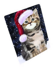 Let it Snow Holiday British Shorthair Cat Tempered Cutting Board Large Db369