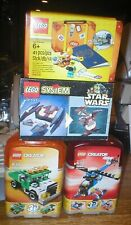 LEGO LOT, 4 SETS, ALL UNOPENED, DROID FIGHTER, CREATOR, AND PASSPORT , ALL NIBS