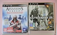 PS3 PLAYSTATION Assassin's Creed: Brotherhood + Crysis 2