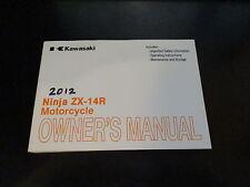 Kawasaki OEM Owners Manual 2012 Ninja ZX-14R ZX1400 EC 99987-1710