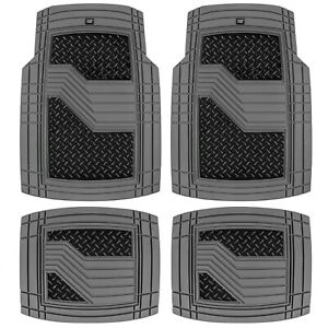 Caterpillar Automotive Rubber Car Floor Mats Heavy Duty All Weather Accessories