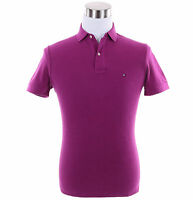 Tommy Hilfiger Men Short Sleeve Solid Rugby Custom Fit Pique Polo Shirt -$0 Ship
