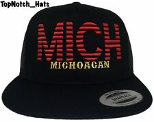 Michoacan MICH Black And Red With Gold Trucker Hat Brand New Ships Now !!!