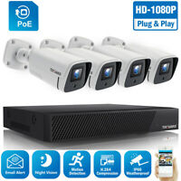 Home Security-Kamerasystem 4-teilige PoE 8CH 1080P-Kameras mit IR-Nachtsicht-NVR