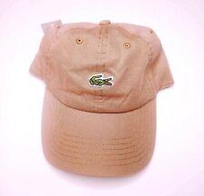 Lacoste Men's Classic Beige Cotton Small Croc Logo Adjustable Hat Cap