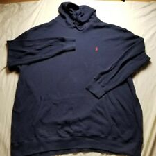 561a859d4cd VINTAGE Polo Ralph Lauren NAVY Pullover Waffle Hoodie RUGBY BEAR SKI STADIUM