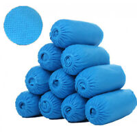 100Pcs Disposable Boot & Shoe Covers, PE Non-Slip and Protective Corona Germs