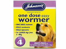 Johnson's One Dose Easy Wormer Size 4 Giant Dog