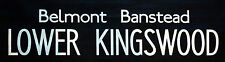 "LOWER KINGSWOOD -  London Bus Destination Blind 34"".  Wedding Anniversary Gift"