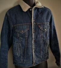 Vintage Levis shearling Sherpa USA trucker jacket size 38