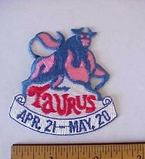 TAURUS APRIL. 21-MAY 20 ASTROLOGY EMBROIDERED IRON-ON TAIWAN BULL PATCH