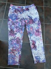 h&m very pretty  floral trousers Size 12