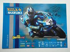 Cal Crutchlow Hand Signed Rizla Suzuki Poster BSB.