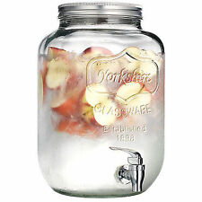 5 Litre Glass Drinks Dispenser Vintage Beverage Water Juice Punch Drink Jar Jug