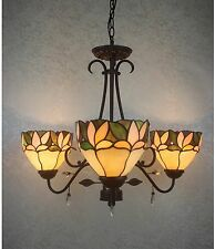 Tiffany Light Style Glass Ceiling Fixture Hanging Stained Lighting Chandelier 3