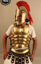 300 MOVIE SPARTAN HELMET W/ RED PLUME WITH MUSCLE JACKET