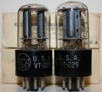 Matched Pair NOS RCA VT229 / 6SL7GT / 6SL7 tubes, LOOK !