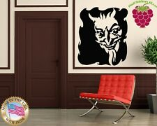 Wall Stickers Vinyl Decal Satan Devil Evil Hell Fire Portrait ig807