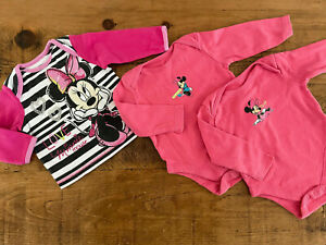 Baby Girl 3-6 months Disney Minnie Mouse Long Sleeve Top & Bodysuits Combine