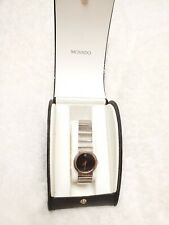 Movado Textured Women's Watch 3935182 Stainless Steel Designer Trendy in Box