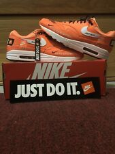 buy popular 7a333 c53c9 Nike Air Max 1 SE JDI Just Do It Total Orange White Black 13