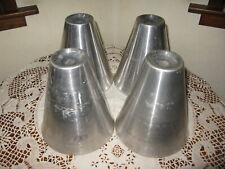 """Aluminum Metal Furniture Bed Risers Lift x4 7"""" x 6"""" Diameter at Base 2"""" at Top"""