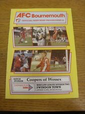 07/04/1990 Bournemouth v Swindon Town  . Thanks for viewing this item, buy in co
