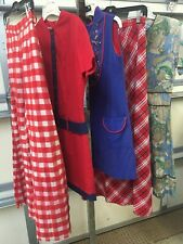 Vintage 1960s 70s Hippy Mod Assorted Lot Of 5 Women's Clothing Xs S