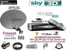SKY HD Freesat drx890w WIFI BOX SKY BOX RICEVITORE INCLUSO Dish LNB Full Kit