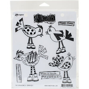 """Ranger Dyan Reaveley's Dylusions Cling Stamp Collections 8.5""""X7""""-Put A Bird On I"""