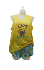 Womens 2PC MINIONS PJ Boxer Set ~ Despicable Me