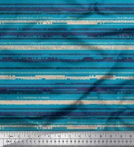Soimoi Brown Cotton Poplin Fabric Prints Digital Decor Fabric Printed-dvH