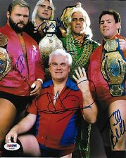 Ric Flair Arn Anderson + 4 Four Horsemen Signed 8x10 Photo PSA/DNA WWE NWA WCW