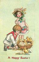 Chicks Easter Tuck 1908 Gassaway Girls Postcard Eggs 2556