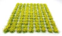 Yellow flowers tufts x117 tufts - Self adhesive static model scenery