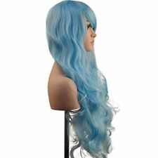 Blue Women's Curly Hair Wigs & Hairpieces
