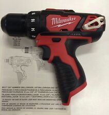 "Milwaukee 2407-20 New M12 12V Volt Li-Ion 3/8"" Chuck Drill Driver 2-Speed LED"
