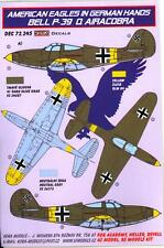 KORA Decals 1/72 BELL P-39Q AIRACOBRA American Aircraft in German Hands