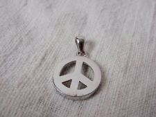 925 Nuclear Disarmament Semaphone 1960s Peace Sign Pendant Charm Sterling Silver