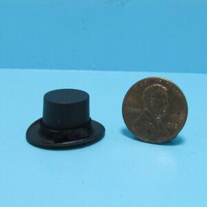 Dollhouse Miniature Gentleman's Top Hat in Black ~ MUL5392BK