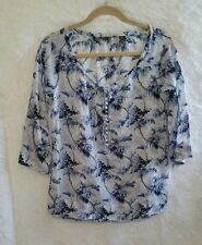 Tommy Bahama womens 3/4 sleeve Silk And cotton top size S 4p