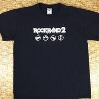 ROCK BAND 2 Men's Black Short Sleeve T-Shirt Size Large Like 100% Cotton