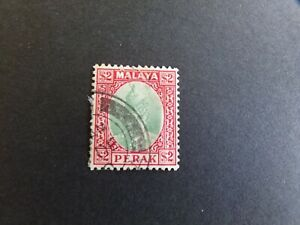 Malaya - Perak - George VI 1940 Two Dollar Used