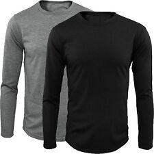 Maglia Uomo Manica Lunga T-Shirt Girocollo S M L XL XXL  GIROGAMA 1705F