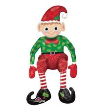 Sitting Elf 43cm x 73cm Super Shape Original Multi-Balloon Christmas Air-Fill