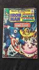 "Original #74 Feb  IRON MAN & CAPTAIN AMERICA The Final Sleep!""  Comic Book"