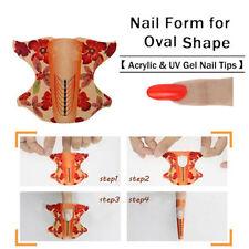 100pcs/roll Oval Shape Adhesive Nail Art Form UV Gel Tips Extension DIY Tool